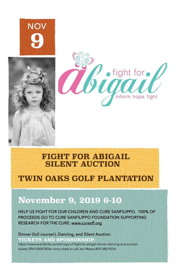 Fight for Abigail Event: November 9th