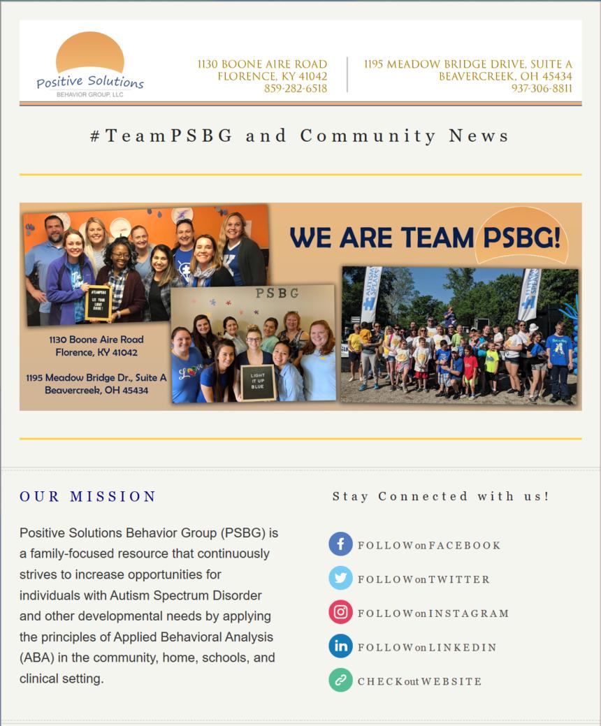 #TeamPSBG December Newsletter