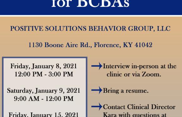 BCBA Open Interviews