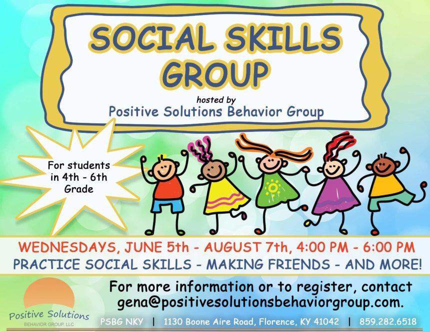Summer Social Skills Group