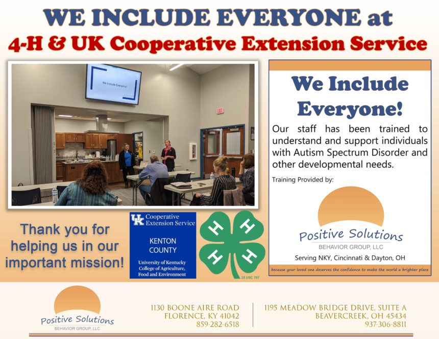 We Include Everyone at 4-H & UK Cooperative Extension!