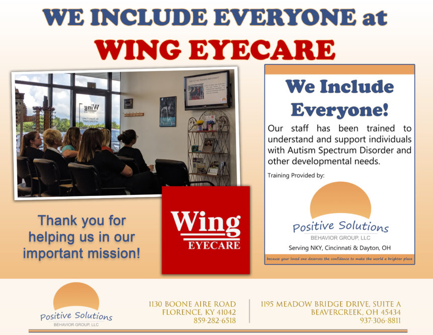 We Include Everyone at Wing Eyecare!